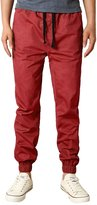 HEMOON Mens Regular Fit Twill Chino Harem Jogger Pants