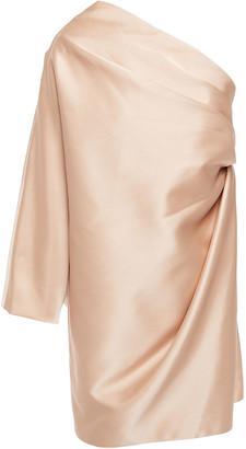 Marc Jacobs One-shoulder Draped Satin Mini Dress