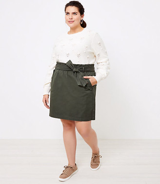 LOFT Plus Tie Waist Pocket Skirt