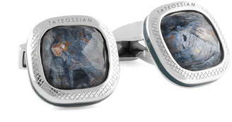 Tateossian Men's Silver Square Cushion Doublet Cufflinks