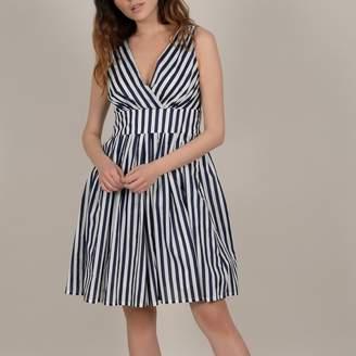 Molly Bracken Striped Cotton Mid-Length Dress