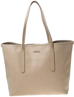 Furla Beige Leather Ariana Tote