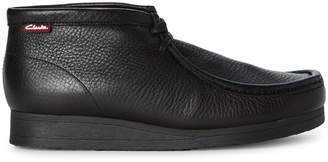 Clarks Black Stinson Hi Leather Chukka Boots
