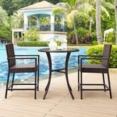 Crosley Furniture Palm Harbor Outdoor Wicker Bistro 3-piece Set