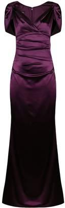 Talbot Runhof sheen draped long dress