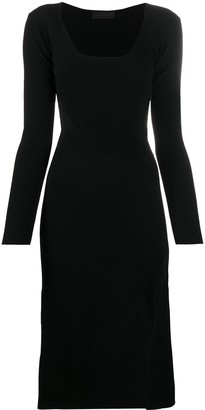 Diesel Black Gold Knitted Side Slit Detail Dress