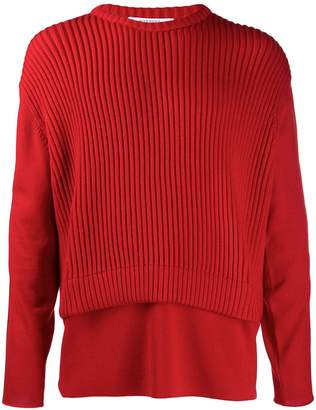 Givenchy ribbed logo stripe jumper