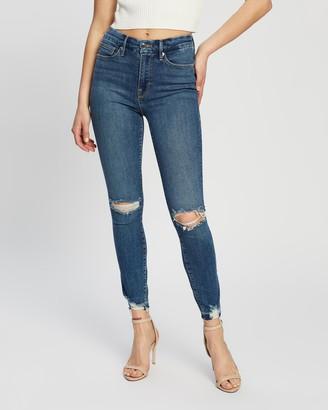 Good American Good Legs Chewed Hem Jeans