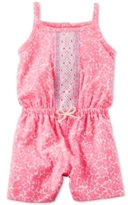 Carter's Embroidered Floral-Print Romper, Baby Girls (0-24 months)