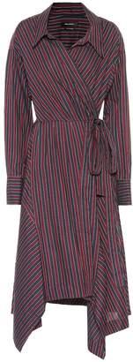 Isabel Marant Mila striped cotton wrap dress