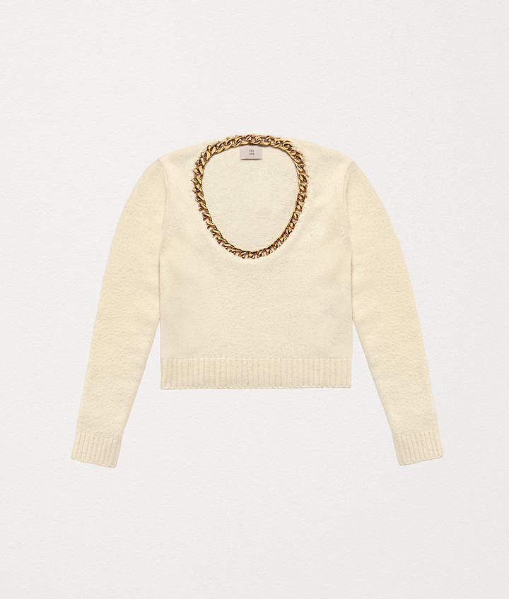 Bottega Veneta SWEATER IN WOOL AND STERLING SILVER