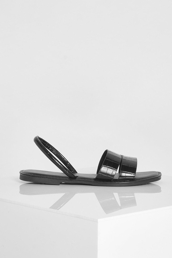 Thumbnail for your product : boohoo Cut Out Strap Slingback Jelly Sandals