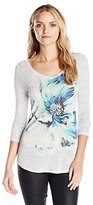 Lucky Brand Women's Painted Floral Tee