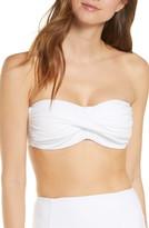 Veronica Beard Lina Twist Bandeau Bikini Top