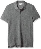 Lacoste Men's Short Sleeve Heather Slubbed Crushed Pique Cotton/Wool Polo