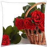 "Kobalter Roses - Throw Pillow Cover Case (16"" x 16"")"