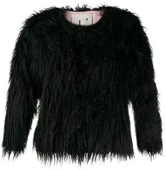 L'Autre Chose faux-fur short jacket