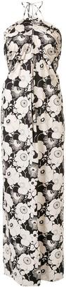 Georgia Alice Valentina halterneck floral-print dress