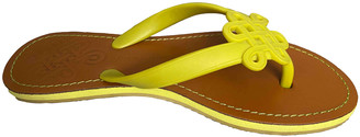 Diane von Furstenberg Yellow Rubber Sandals