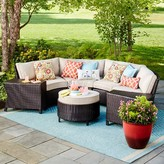 Threshold Harrison 7-Piece Wicker Sectional Patio Seating Set