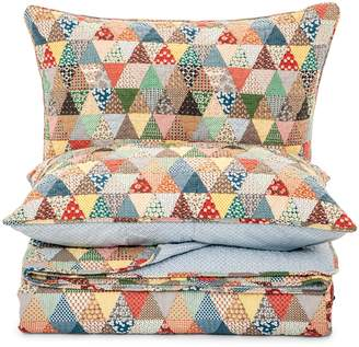 Antik Gina 200-Thread Count Cotton 3-Piece Multicoloured Quilt Set
