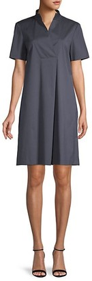 Lafayette 148 New York Faux Wrap Shift Dress