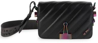 Off-White Mini Binder Clip Matelasse Leather Crossbody Bag