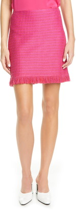 St. John Poppy Textured Knit Skirt