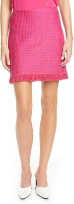 St. John Poppy Novelty Textured Knit Skirt
