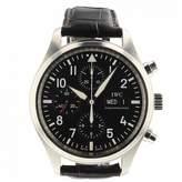 Iwc Pilot Black Steel Watches