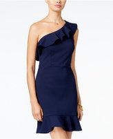 B. Darlin Juniors' Ruffled One-Shoulder Dress