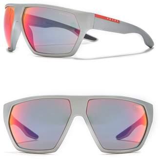 Prada Linea Rossa 67mm Square Mirror Sunglasses