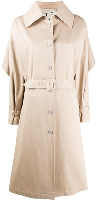 L'Autre Chose Single-Breasted Trench Coat