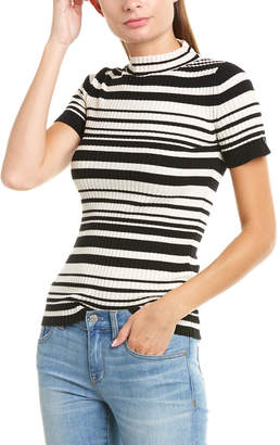 Twin-Set Twin Set Twinset Ribbed Wool-Blend Top