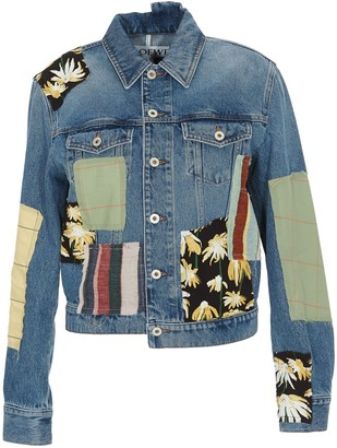 Loewe Patchwork Asymmetric Denim Jacket