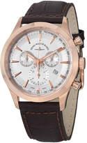 Zeno Gentlemen Chronograph Silver Dial Brown Leather Men's Watch