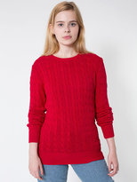 American Apparel Unisex Cable Knit Sweater