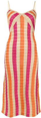 SUBOO Striped Knit Slip Dress