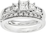 MODERN BRIDE 7/8 CT. T.W Diamond 14K White Gold Bridal Set