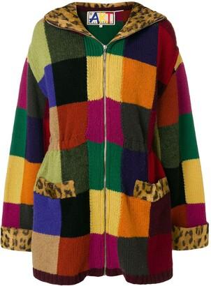 Jc De Castelbajac Pre Owned Knitted Patch Coat
