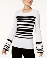 INC International Concepts Striped Bell-Sleeve Sweater, Only at Macy's