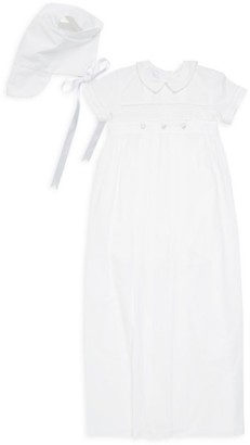 Kissy Kissy Baby Girl's 3-Piece Convertible Christening Gown, Romper & Bonnet