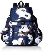 Le Sport Sac X Peanuts Voyager Back pack, Snoopy Toss, One Size