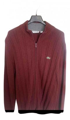 Lacoste Burgundy Wool Knitwear & Sweatshirts