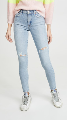 A Gold E Sophie Mid Rise Ankle Jeans