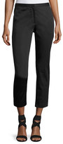 Rosetta Getty Cropped Cady Skinny Pants, Black