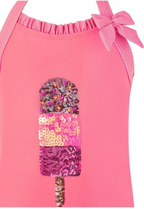 Monsoon Girls Fabianna Sequin Lolly Swimsuit - Coral
