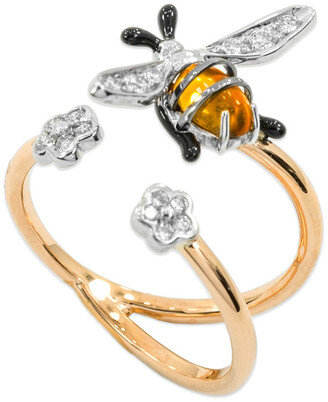 Bumble Bee Staurino 18k Rose Gold Nature Ring, Size 7