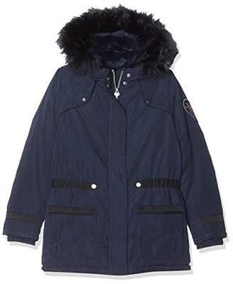 Ikks Junior Girl's Parka 2 En 1 Sous Doudoune Ml All Over Etoiles Raincoat,(Size: 5A)