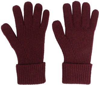 N.Peal Ribbed-Knit Cashmere Gloves